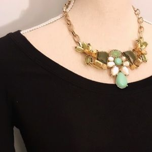 Vintage J. Crew Floral Wrap Statement Necklace